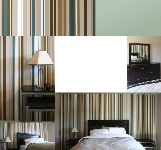 Teal & Tan Bedroom